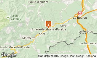 Map Amélie-Les-Bains One-room apartment 102100