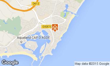 Map Cap d'Agde One-room apartment 84744