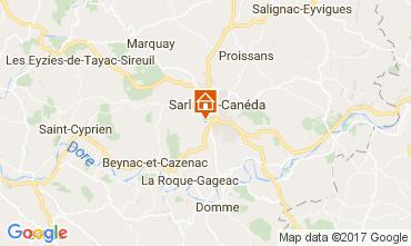 Map Sarlat Vacation rental 108143