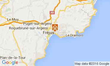 Map Fréjus Apartment 104120