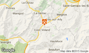 Map Notre Dame de Bellecombe Apartment 97632