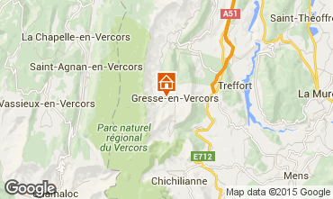 Map Gresse en Vercors One-room apartment 28748