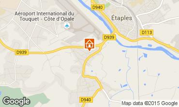Map Le Touquet Vacation rental 7765