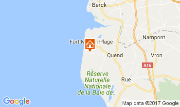 Map Quend Plage Mobile home 30323