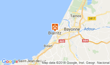 Map Biarritz One-room apartment 112149