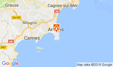 Map Juan les Pins Apartment 113037