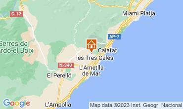 Map L'ampolla Villa 116276