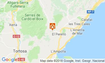 Map La Ametlla de Mar Vacation rental 110680