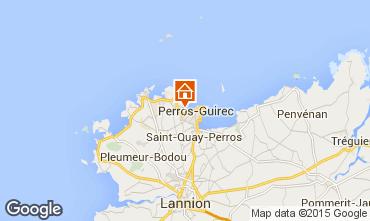 Map Perros-Guirec Apartment 7430