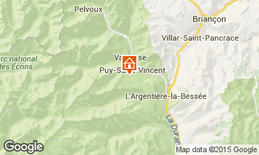 Map Puy Saint Vincent One-room apartment 79720