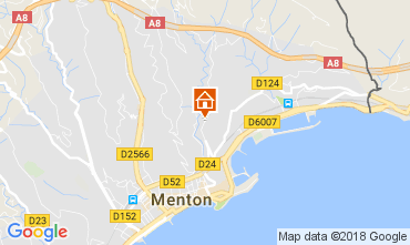 Map Menton Apartment 113375