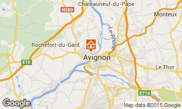 Map Avignon One-room apartment 78730