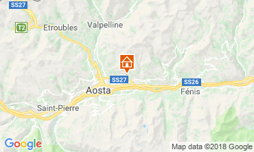Map Aosta Apartment 116508