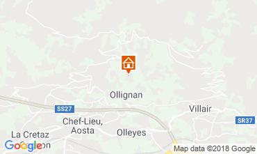 Map Aosta Apartment 116508