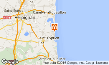 Map Saint Cyprien Plage Apartment 8719