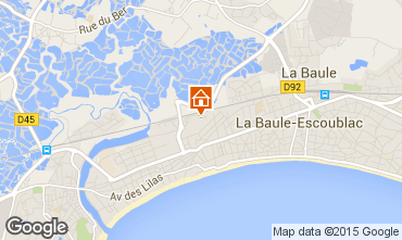 Map La Baule One-room apartment 45279