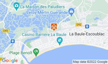 Map La Baule One-room apartment 45279