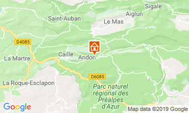 Map Grasse Vacation rental 118775