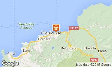 Map Location Ile Rousse Apartment 82397
