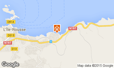 Map Location Ile Rousse Apartment 82397