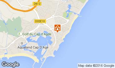 Map Cap d'Agde One-room apartment 90262