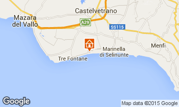 Map Castelvetrano Selinunte Apartment 72765