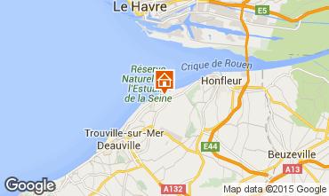 Map Honfleur House 7704
