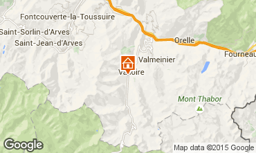 Map Valloire Apartment 92317