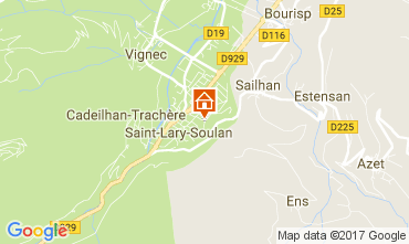 Map Saint Lary Soulan Apartment 112350