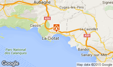 Map La Ciotat Apartment 5947