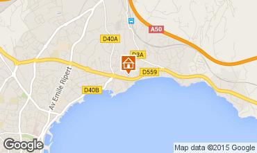 Map La Ciotat Apartment 5947