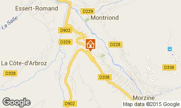 Map Morzine Apartment 82300