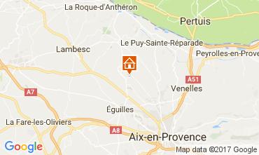 Map Aix en Provence Villa 109342