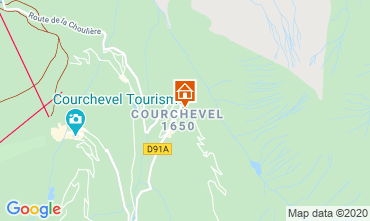 Map Courchevel Apartment 1084