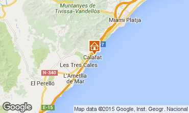 Map La Ametlla de Mar Villa 80569