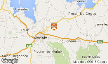 Map Morlaix Vacation rental 75696