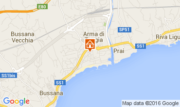 Map Taggia Apartment 86472