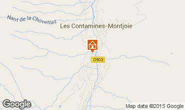 Map Les Contamines Montjoie Apartment 931