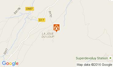 Map Superdévoluy- La Joue du Loup Chalet 15474