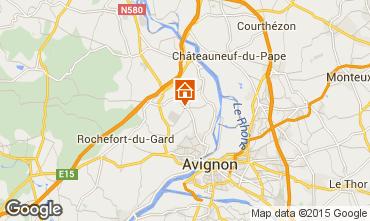 Map Villeneuve lez Avignon Vacation rental 86441