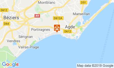 Map Cap d'Agde Mobile home 118020