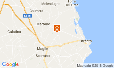 Map Otranto Bed and breakfast 115402