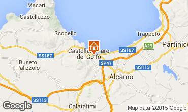 Map Castellammare del Golfo Apartment 80319
