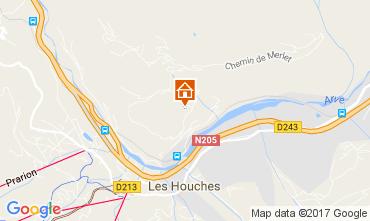 Map Chamonix Mont-Blanc Apartment 110421