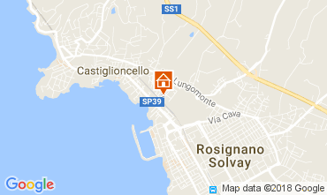 Map Castiglioncello Apartment 108941