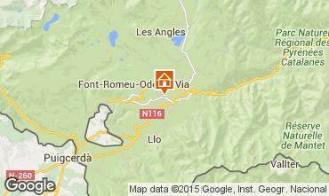 Map Bolquère Pyrenées 2000 Apartment 3982