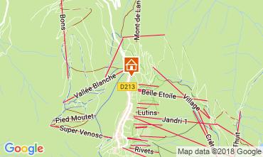 Map Les 2 Alpes Apartment 111828