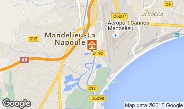Map Mandelieu la Napoule One-room apartment 40533