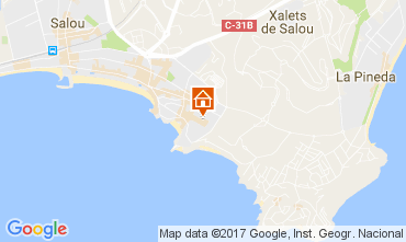 Map Salou Apartment 109519