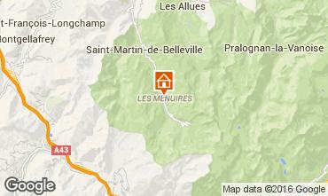 Map Les Menuires Apartment 1673
